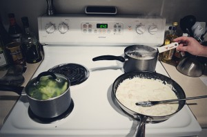 Pasta with Chicken, Broccoli in Lemon-Garlic Sauce - Steps 1-6