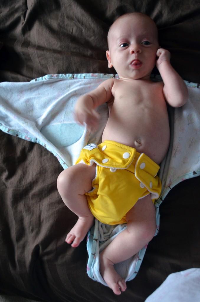 Isla in FuzziBunz Cloth Diapers