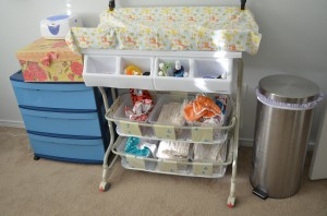 How we do cloth diaper storage
