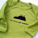 Growing Up Wild No Child Left Indoors Organic Bodysuit for Baby