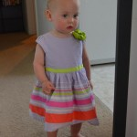 Isla in her Easter dress