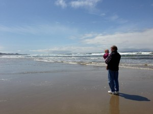 Pops loved showing Isla the ocean