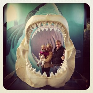 The family at the Oregon Coast Aquarium