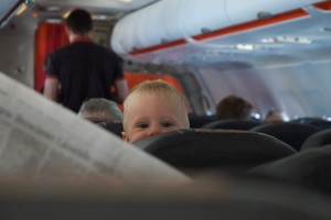 Kid on airplane