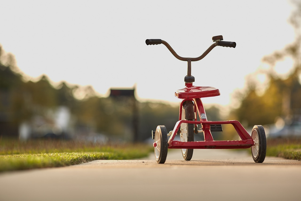 Tricycle on Sidewalk