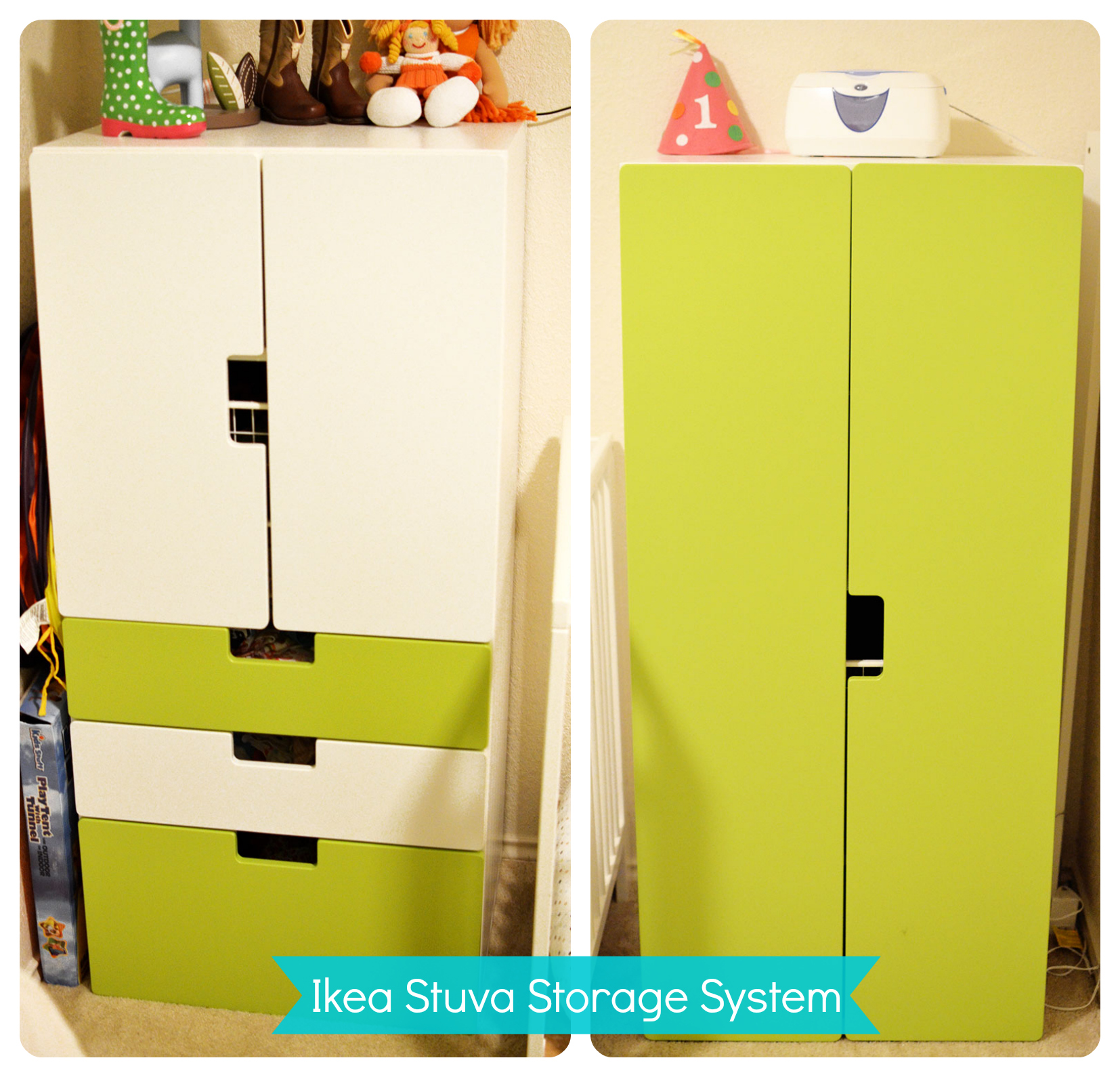 Our Cloth Diaper Storage System
