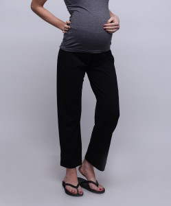 Black Over-Belly During & After Maternity Yoga Pants