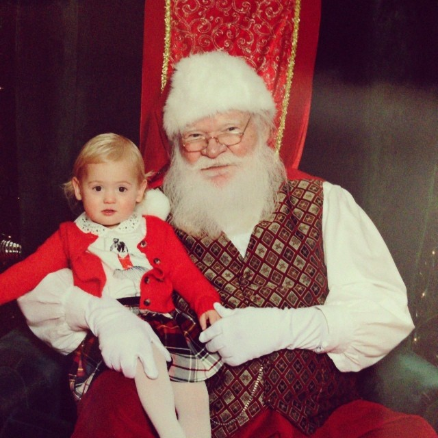 Isla meeting Santa