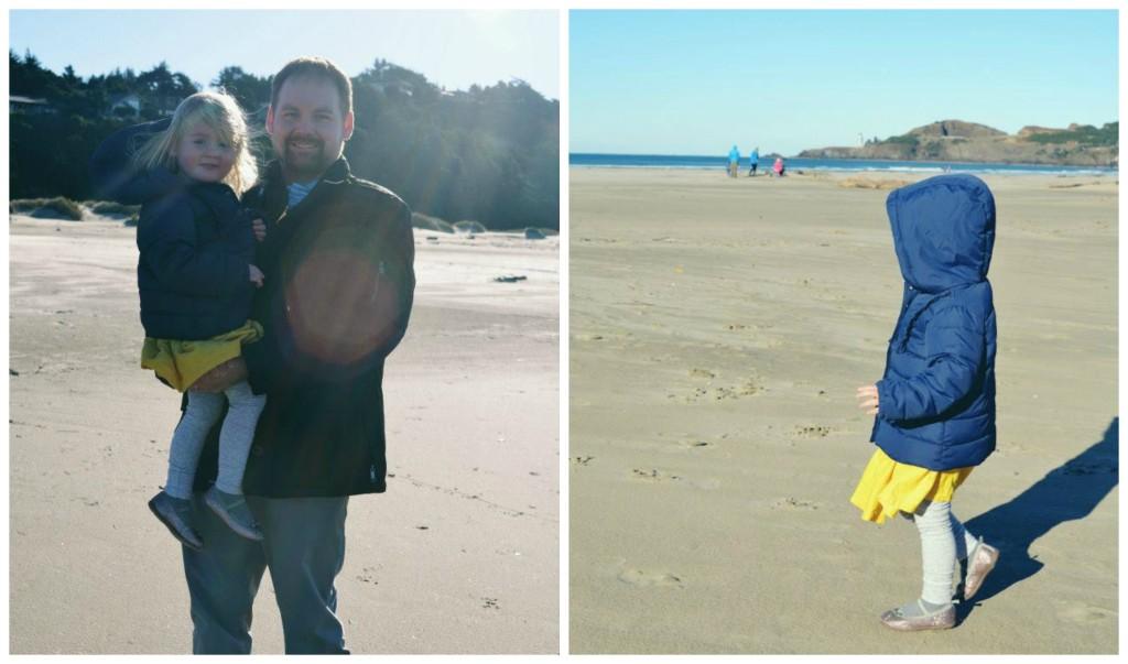 Kellen and Isla on the beach