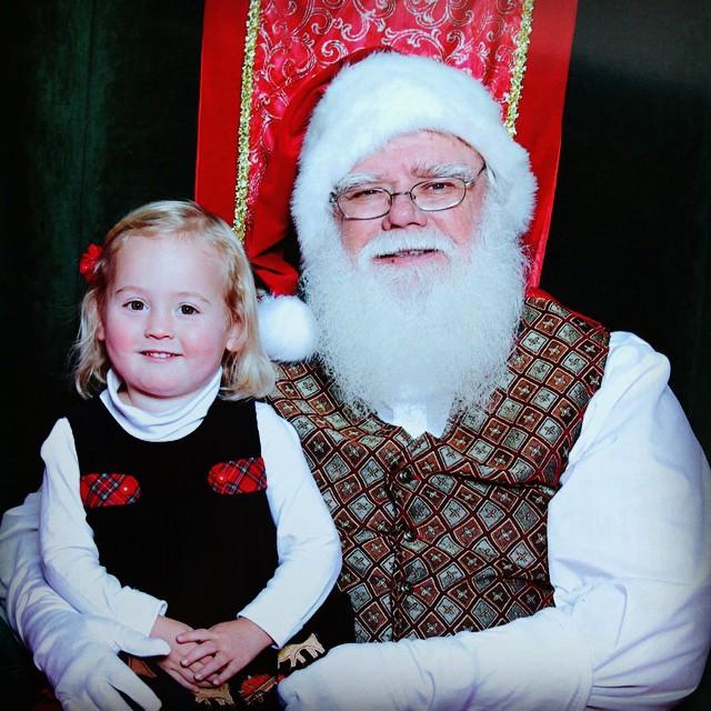 Isla seeing Santa