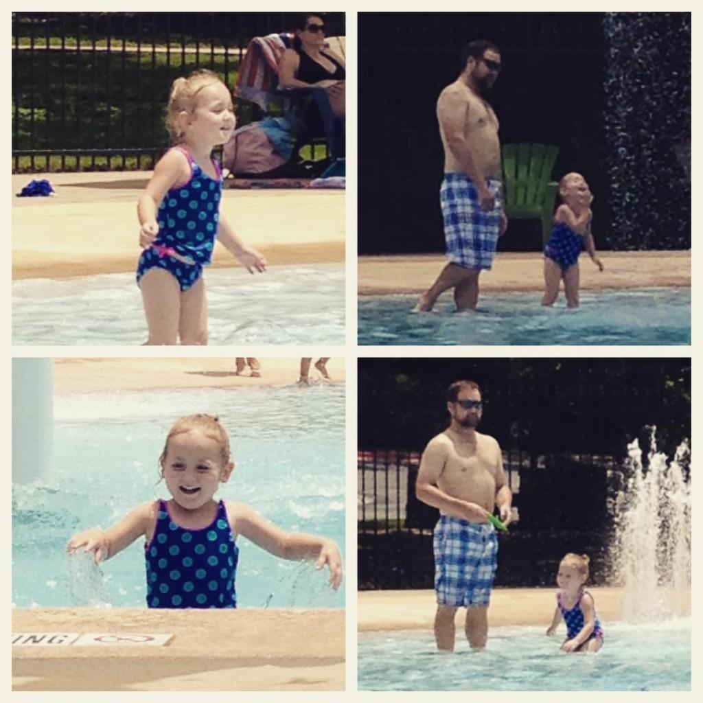 Isla at the pool
