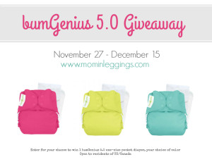 bumGenius 5.0 One-Size Cloth Diaper Giveaway