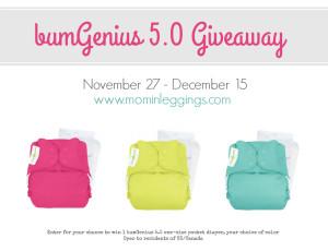 bumGenius 5.0 Cloth Diaper Giveaway