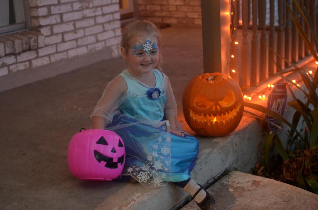 Isla on Halloween