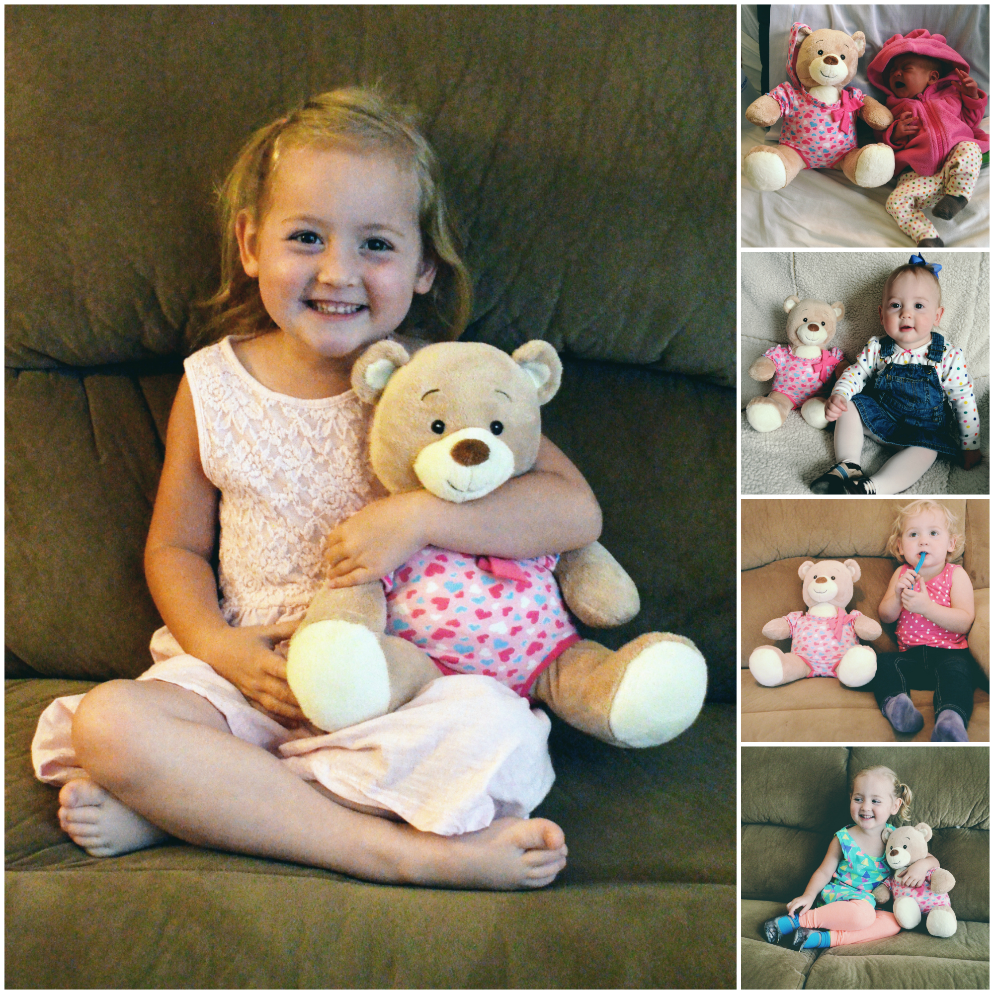 4 years of Isla with her birthday bear