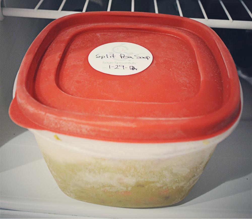 Freezer meal: split pea soup