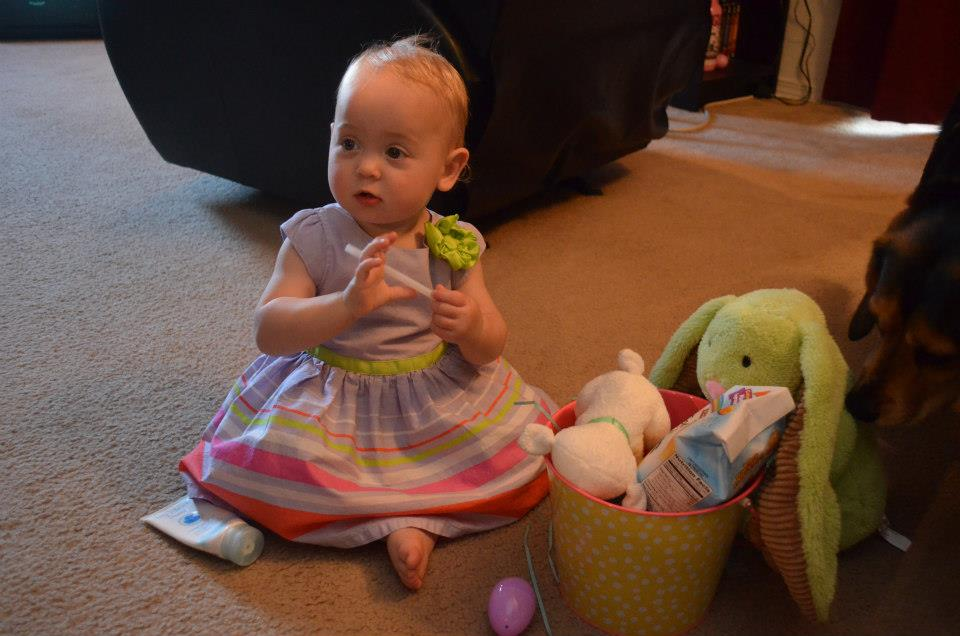 Isla and her Easter basket