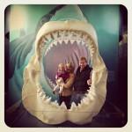The family at the Oregon Coast Aquarium