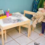Isla's new art desk