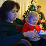 Grandma and Isla at Ma's