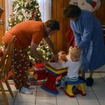 Christmas morning at Grandma's