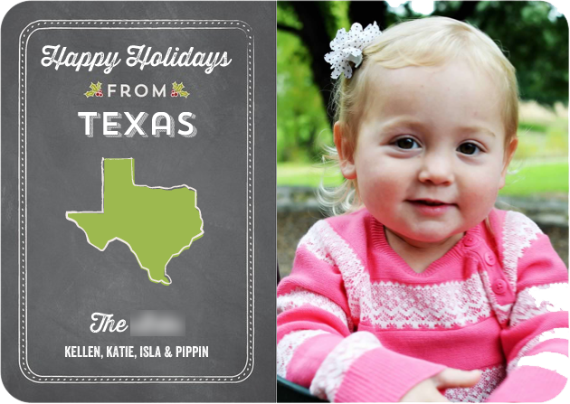 Our Family Christmas Card, Option 1