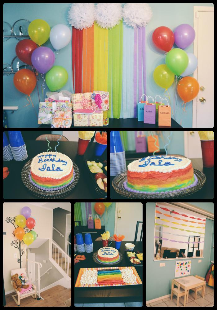 Rainbow Birthday Decor