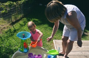 Playing with the new water table